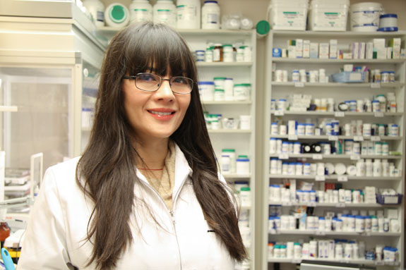 image of staff member at Stratica skin care and compounding pharmacy in Edmonton